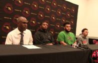Dunbar Press Conference after defeating Fairmont Heights in MD 1A State Championship 3/10/18